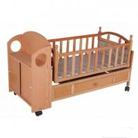 Buy cheap Wooden Automatic Baby Swing Bed Crib from wholesalers