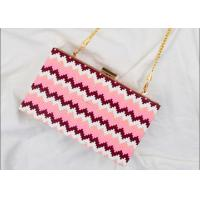 Buy cheap Rectangular Shaped Party Clutch Purse With Point Wave Strip Front from wholesalers