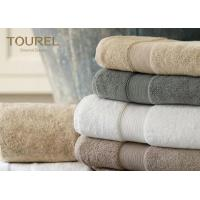 Buy cheap Jacquard Cotton Beach Hotel Bath Towels Grey Color Embroidery Fancy Design from wholesalers