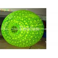 Buy cheap Shining Inflatable Zorbing Ball With Green D-ring Grass Roller On Land from wholesalers