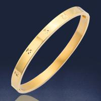 Buy cheap Three Color 316L Stainless Steel Cuff Bangle For Woman OEM / ODM Was Available product