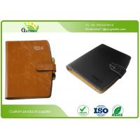 Buy cheap Embossing Surface Finishing Loose Leaf Notebook With Pen And Business Card Pockets from wholesalers