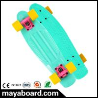Quality Losenka MS309 22.5inch candy color plastic skateboard with 3.25 inch aluminum truck for sale