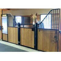Buy cheap Classic Free Standing Powder Coated Horse Stall Partitions With Swing Door And Dividers from wholesalers