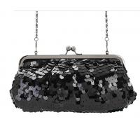 Buy cheap Classic Black color sequin material Excellent design evening bag wholesale from wholesalers