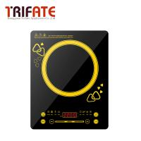 Buy cheap 220V 2200W Black yellow Super slim Waterproof small hot pot stove 2200W large power electric magnetic induction cooker from wholesalers
