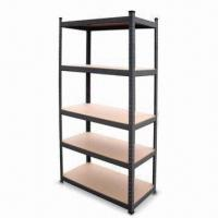 Buy cheap 5-shelf Steel Shelving, Comes with Particle MDF Board and 175kg/Layer product