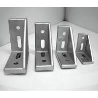 Buy cheap Aluminum profile metal right angle bracket with plastic cap 30x60 corner bracket from wholesalers