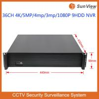 Buy cheap SunView P2P 36CH 4K&5MP&4mp&3mp&1080P ONVIF 9HDD NVR from wholesalers