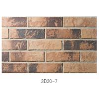 Buy cheap 3D20-7 Eco - Friendly Brick Veneer Wall , Sintered 3D Exterior Brick Veneer Panels For House Building from wholesalers