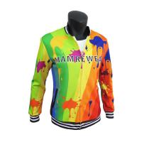 Buy cheap Stylish Sublimation Casual Polyester Sports Jacket With Pockets Comfortable from wholesalers