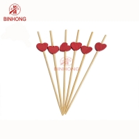 Buy cheap Colorful Heart Head 18cm Bamboo Food Picks For Fruit from wholesalers
