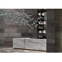Buy cheap Natural Black Lava Stone Floor Tile Natural Slate Wall Slab Cladding Stone from wholesalers