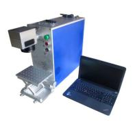 Buy cheap Small Portable Fiber Laser Marking Machine JCZ Control Software For Plastic from wholesalers