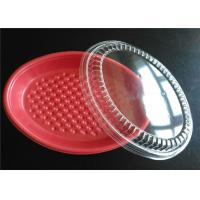 Buy cheap PP Plastic Takeaway Trays , Four Compartment Food Trays With Lids For Keep Food Clean from wholesalers