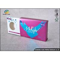 Buy cheap Purple Decorative Cardboard Boxes , Gift Card Box Three Display Small Windows from wholesalers
