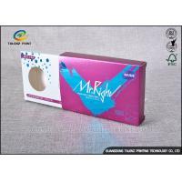 Purple Decorative Cardboard Boxes , Gift Card Box Three Display Small Windows