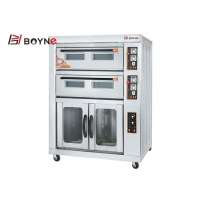 Buy cheap Commercial Bakery Kitchen Equipment Stainless Steel Two Deck Four Trays Gas Oven With Proofer from wholesalers