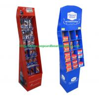 Buy cheap Custom Black Color Template Cardboard Book Floor Display Stands for Retail product