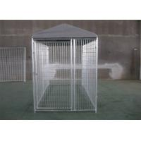 Buy cheap Powder Coated Weld Wire Dog Fence With Roof 1.8M HEIGHT x 2.5M WIDTH X 2.5 WIDTH 50mmx100mm Pr-galvanized Tube from wholesalers