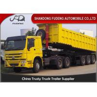 Buy cheap Square Shape 45 Tons Dump Semi Trailer With Hyva Hydraulic Lifting System from wholesalers