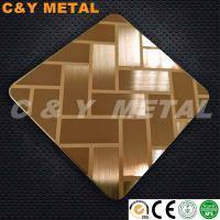 Buy cheap Decorative stainless steel sheet with cross hairline,etching and rose-gold colors from wholesalers