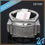 Buy cheap micro pave silver cz ring from wholesalers
