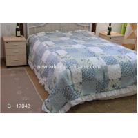 Buy cheap bedding sets,Elegent ruffled patchwork quilt polyester quilted comforter set,filling with cotton or polyester from wholesalers