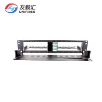 Buy cheap OM3 Quad LC 24F 2U 288F MPO MTP Fiber Patch Panel from wholesalers
