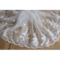 Buy cheap White Floral Venise Nylon Mesh White Bridal Lace Fabric For Dressmaking product