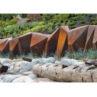 Buy cheap Customized Size Corten Steel Garden Sculpture , Metal Garden Art Outdoor Decoration from wholesalers