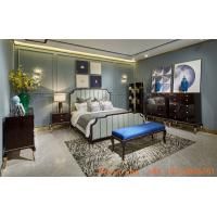 Buy cheap New classic luxury bedroom furniture set used in High end glossy painting wood bed with Storage chest of drawers cabinet from wholesalers