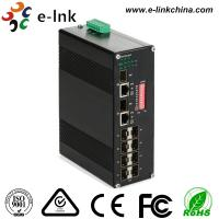 Buy cheap Manageable Industrial Ethernet Media Converter 10 / 100 / 1000M SFP Combo from wholesalers