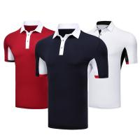 Buy cheap Casual Business Breathable Black Company Polo Shirt Heat Transfer Formal Style 100% Polyester from wholesalers