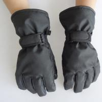 Buy cheap Soft Touch Waterproof Leather Ski Gloves , Fashion Style Black Leather Winter Gloves from wholesalers