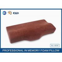 Buy cheap Non Shredded Curved Memory Foam Pillow , Visco Elastic Memory Foam Cervical Pillow from wholesalers