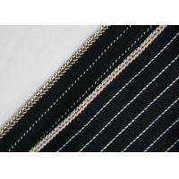Buy cheap 11.7oz 100% Cotton Stretchable Jeans Material , Yarn Dyed Striped Twill Fabric from wholesalers