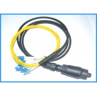 Buy cheap MPO to LC UPC Fiber Optic Cable Assemblies 8 Cores Waterproof Outdoor Project from wholesalers