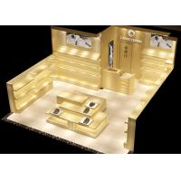 Buy cheap Veneer Original Color Retail Shoe Display Shelves For Luxury Shopping Mall from wholesalers