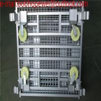 Buy cheap Wire Mesh Bulk Container for warehouse foldable pallet cage/metal bin storage container/warehouse foldable pallet cage from wholesalers