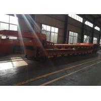Buy cheap Hydraulic Flatbed Semi Trailer Truck For Construction Loading 80 Tons 17m from wholesalers