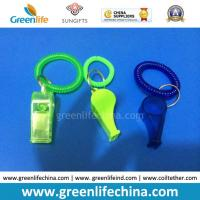 Translucent Whistle W/Key Ring and Translucent Wrist Coil Keychain
