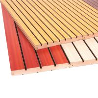 Buy cheap Interior Wooden Grooved Acoustic Panel Pop Ceilings PVC Wall Panels from wholesalers