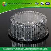 Buy cheap Professional  PET / BOPS round bread cake Clamshell Blister Packaging disposable from wholesalers