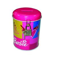 Buy cheap round coin bank tin box with lock product