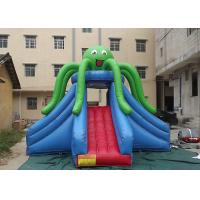 Buy cheap Green Octopus Giant Inflatable Slide Popular Attraction Reinforced Strips At Joint from wholesalers