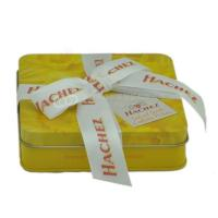 Buy cheap Custom rectangular candy tin box  chocolate gift boxes with ribbon from wholesalers