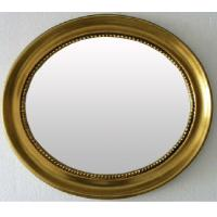 Buy cheap classical oval wooden framed bathroom mirror,cosmetic mirror product