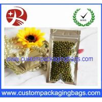 Buy cheap 9cm  x 16 cm Food Packaging Bags 3 Side Seal Zipper Pouch waterproof from wholesalers