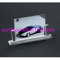 Buy cheap Wholesale handmade glass souvenir photo picture frames clear acrylic photo stand from wholesalers